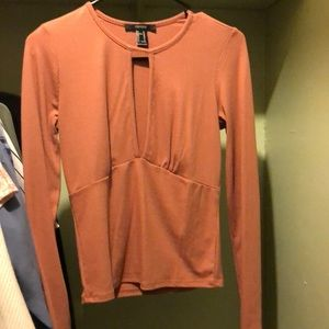 Forever 21 Mauve Long Sleeve Top